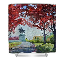 Forest Park Autumn Colors Shower Curtain