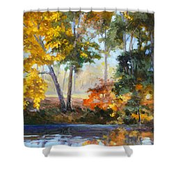 Forest Park - Autumn Reflections Shower Curtain