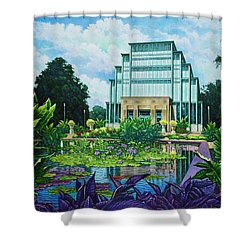 Forest Park Jewel Box Shower Curtain by Michael Frank