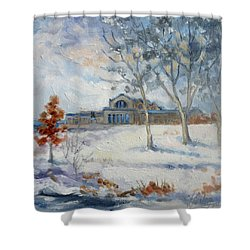 Forest Park Winter Shower Curtain