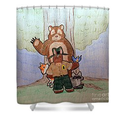 Forest Ranger Pony And Friends Shower Curtain