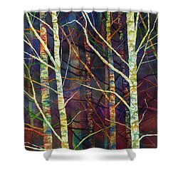 Shower Curtain featuring the painting Forest Rhythm by Hailey E Herrera