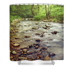 Forest River Cascades Shower Curtain