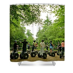 Forest Segway Shower Curtain