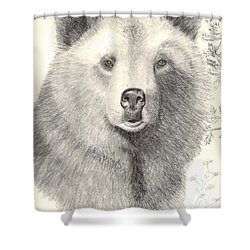 Forest Sentry Shower Curtain