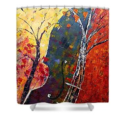Forest Symphony Shower Curtain