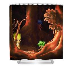 Forest Trolls Shower Curtain