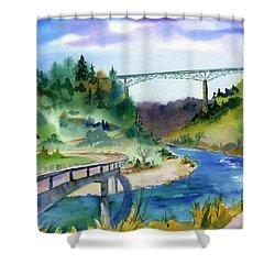 Foresthill Bridge #2 Shower Curtain