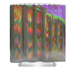 Shower Curtain featuring the digital art Forests Of The Night by Wendy J St Christopher