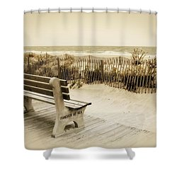 Shower Curtain featuring the photograph Forever At Sea - Jersey Shore by Angie Tirado