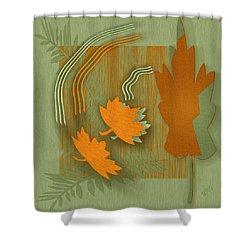 Forever Leaves Shower Curtain by Ben and Raisa Gertsberg