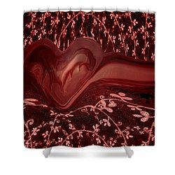 Forever Love Shower Curtain by Linda Sannuti