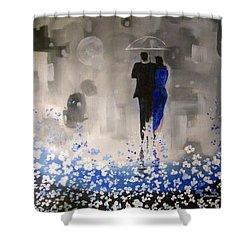 Forever Love Shower Curtain by Raymond Doward