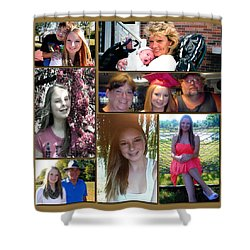 Shower Curtain featuring the digital art Forever Moments by Kathy Tarochione