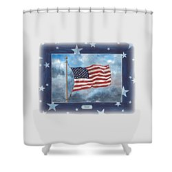 Forever Old Glory  Shower Curtain