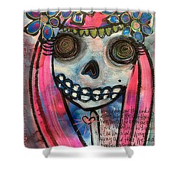 Shower Curtain featuring the painting Forever With You by Laurie Maves ART