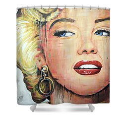 Forever Young - Marilyn Monroe Portrait Face Art Painting Shower Curtain