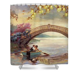Shower Curtain featuring the painting Forever Yours by Steve Henderson