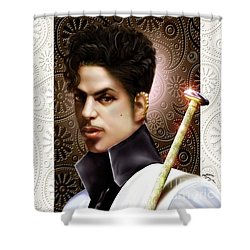 Forevermore The Young Prince Of Paisley 1a Shower Curtain