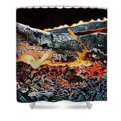 Forge Shower Curtain by David Hoque