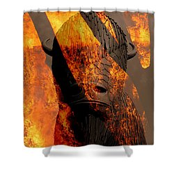 Forged In Fire Shower Curtain