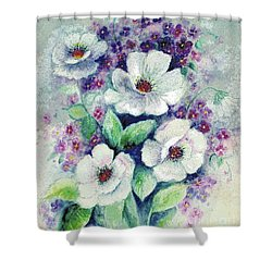 Forget-me-knots And Roses Shower Curtain