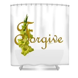 Forgive Shower Curtain by Ann Lauwers