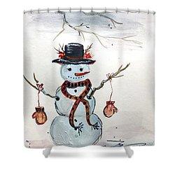 Forgot Your Mittens? Shower Curtain