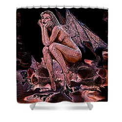 Forgotten Angel Shower Curtain by Tbone Oliver