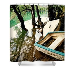 Forgotten Boats Shower Curtain