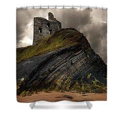 Forgotten Castle In Ballybunion Shower Curtain