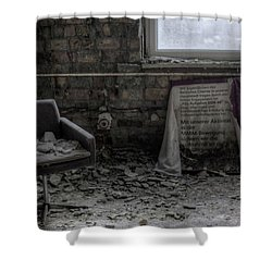Shower Curtain featuring the digital art Forgotten Ideologies by Nathan Wright