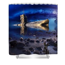 Forgotten In No Man's Land Shower Curtain by Gabriella Weninger - David