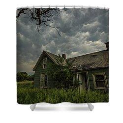 Shower Curtain featuring the photograph Forgotten Mammatus  by Aaron J Groen