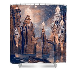 Shower Curtain featuring the digital art Forgotten Place by Alexa Szlavics