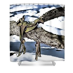Forgotten Saddle Shower Curtain by Nicki McManus