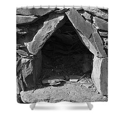 Forgotten Stone Oven In Alentejo Shower Curtain by Angelo DeVal