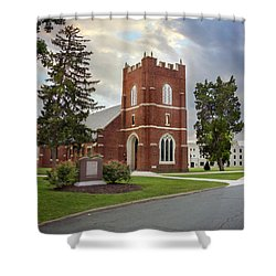 Fork Union Military Academy Wicker Chapel Sized For Blanket Shower Curtain