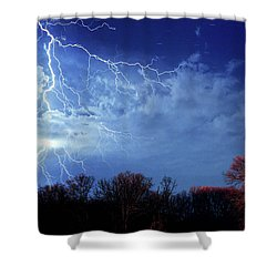 Forked Lightning Shower Curtain
