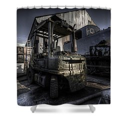 Forklift Shower Curtain