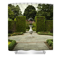 Quiet Garden Space At Niagara Falls Botanical Gardens Shower Curtain