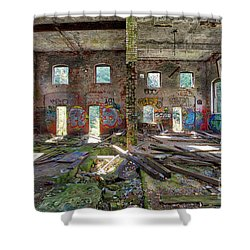 Shower Curtain featuring the photograph Former Hartford Woolen Mill Newport New Hampshire by Edward Fielding