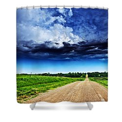 Forming Clouds Over Gravel Shower Curtain