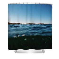 Fornells Bay Shower Curtain