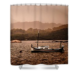 Fornells Bay In Menorca Island - Even Most Beautiful Places Have Secrets To Hide By Pedro Cardona Shower Curtain