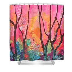 Forrest Energy II Shower Curtain