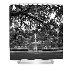 Forsyth Park Fountain 2 Savannah Georgia Art Shower Curtain by Reid Callaway
