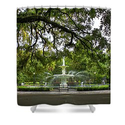 Forsyth Park Fountain Historic Savannah Georgia Shower Curtain by Reid Callaway
