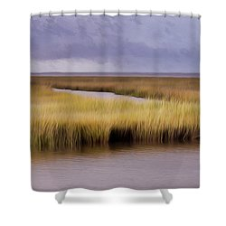 Forsythe By The Sea Shower Curtain
