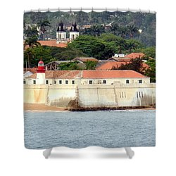 Fort At Sao Tome W. Africa Shower Curtain